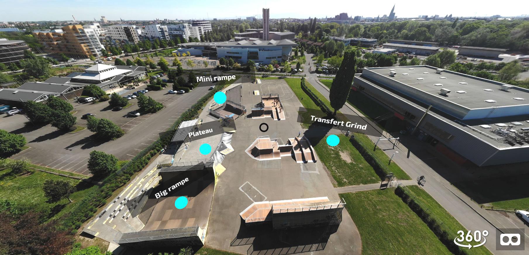 Visite interactive en réalité virtuelle du Skatepark de Strasbourg